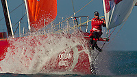 UAE. 4th January 2012. Volvo Ocean Race, Leg 2, arrival into Abu Dhabi. CAMPER with Emirates Team New Zealand.