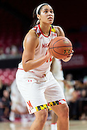 College Park, MD - DEC 6, 2016: Maryland Terrapins center Brionna Jones (42) at the free throw line during game between Towson and Maryland at XFINITY Center in College Park, MD. The Terps defeated the Tigers 97-63. (Photo by Phil Peters/Media Images International)