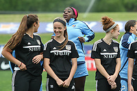 Piscataway, NJ - Saturday May 20, 2017: Mandy Freeman prior to a regular season National Women's Soccer League (NWSL) match between Sky Blue FC and the Houston Dash at Yurcak Field.  Sky Blue defeated Houston, 2-1.