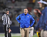 Louisiana Tech coach Sonny Dykes vs. Ole Miss in Oxford, Miss. on Saturday, November 12, 2011.