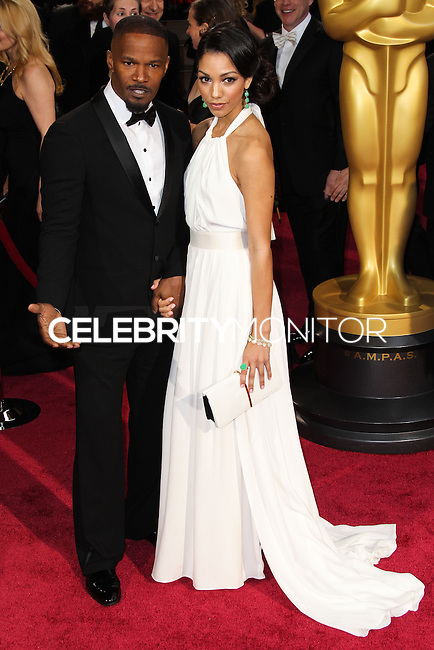 HOLLYWOOD, CA, USA - MARCH 02: Jamie Foxx, Corinne Foxx at the 86th Annual Academy Awards held at Dolby Theatre on March 2, 2014 in Hollywood, Los Angeles, California, United States. (Photo by Xavier Collin/Celebrity Monitor)