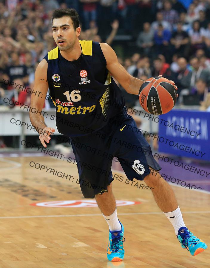 Kosarka Euroleague season 2015-2016<br /> Euroleague <br /> Crvena Zvezda v Fenebahce Istanbul<br /> Kostas Sloukas <br /> Beograd, 06.11.2015.<br /> foto: Srdjan Stevanovic/Starsportphoto &copy;