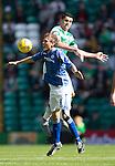 Celtic v St Johnstone...29.08.15  SPFL   Celtic Park<br /> Murray Davidson loses out to Nir Bitton<br /> Picture by Graeme Hart.<br /> Copyright Perthshire Picture Agency<br /> Tel: 01738 623350  Mobile: 07990 594431