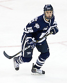 Jeff Silengo (UNH - 18) - The University of Notre Dame Fighting Irish defeated the University of New Hampshire Wildcats 2-1 in the NCAA Northeast Regional Final on Sunday, March 27, 2011, at Verizon Wireless Arena in Manchester, New Hampshire.