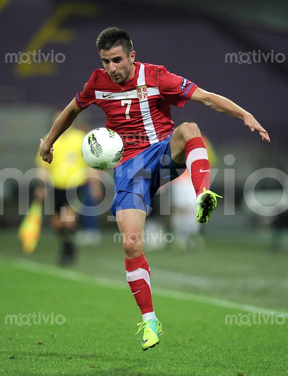 FUSSBALL INTERNATIONAL  Qualifikation Euro 2012  11.10.2011 Slowenien - Serbien Zoran TOSIC (Serbien)