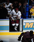 Brock Bradford (Boston College - Burnaby, BC) heads onto the ice prior to the first period. The Michigan State Spartans defeated the Boston College Eagles 3-1 (EN) to win the national championship in the final game of the 2007 Frozen Four at the Scottrade Center in St. Louis, Missouri on Saturday, April 7, 2007.