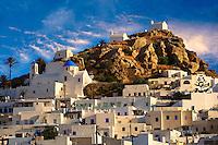 The Hill city of Chora, Ios, Greece, Cyclades Island