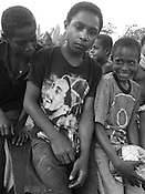 'Superhero' T-shirt fashion,  Vailala Block concession, Gulf Province, Papua New Guinea,