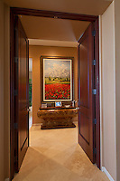 Elegant entry with double doors