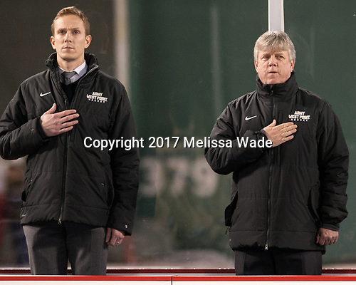 ? McKelvie, Brian Riley (Army - Head Coach) - The Bentley University Falcons defeated the Army West Point Black Knights 3-1 (EN) on Thursday, January 5, 2017, at Fenway Park in Boston, Massachusetts.The Bentley University Falcons defeated the Army West Point Black Knights 3-1 (EN) on Thursday, January 5, 2017, at Fenway Park in Boston, Massachusetts.