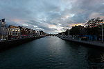 The River Liffey from Ha'penny bridge in Dublin, Ireland on Saturday, June 22nd 2013. (Photo by Brian Garfinkel)