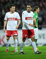 FUSSBALL   1. BUNDESLIGA   SAISON 2011/2012    14. SPIELTAG SV Werder Bremen - VfB Stuttgart       27.11.2011 William KVIST (li) und Cristian MOLINARO (re, beide Stuttgart) sind enttaeuscht