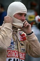 WATKINS GLEN, NY - OCTOBER 5: Gilles Villeneuve prepares to drive the Ferrari 312T5 043/Ferrari 015 during practice for the United States Grand Prix East race at the Watkins Glen Grand Prix Race Course on October 5, 1980, at Watkins Glen, New York.