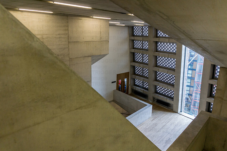 Interior staircase view of Tate building