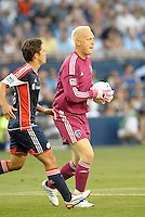 Jimmy Nielsen goalkeeper Sporting KC..Sporting Kansas City and New England Revolution played to a 0-0 tie at LIVESTRONG Sporting Park, Kansas City, KS.