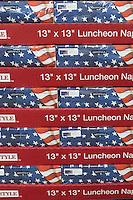 A pallet of patriotic napkins at Wal-Mart in 2011.