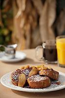 Santa Fe Railroad french toast with cinnamon apples and carmel sauce n Portland, Oregon