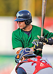 25 August 2008: Vermont Lake Monsters' infielder Danny Espinosa at bat against the Hudson Valley Renegades at historic Centennial Field in Burlington, Vermont. The Lake Monsters defeated the Renegades 8-5 in the second game of their three-game series in Vermont...Mandatory Credit: Ed Wolfstein Photo