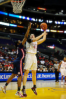 LOS ANGELES, CA - March 11, 2011:  Stanford's Sarah Boothe during the semi-final game of the 2011 Pac-10 Tournament game against the Arizona Wildcats at Staples Center.  Stanford won, 100-71.