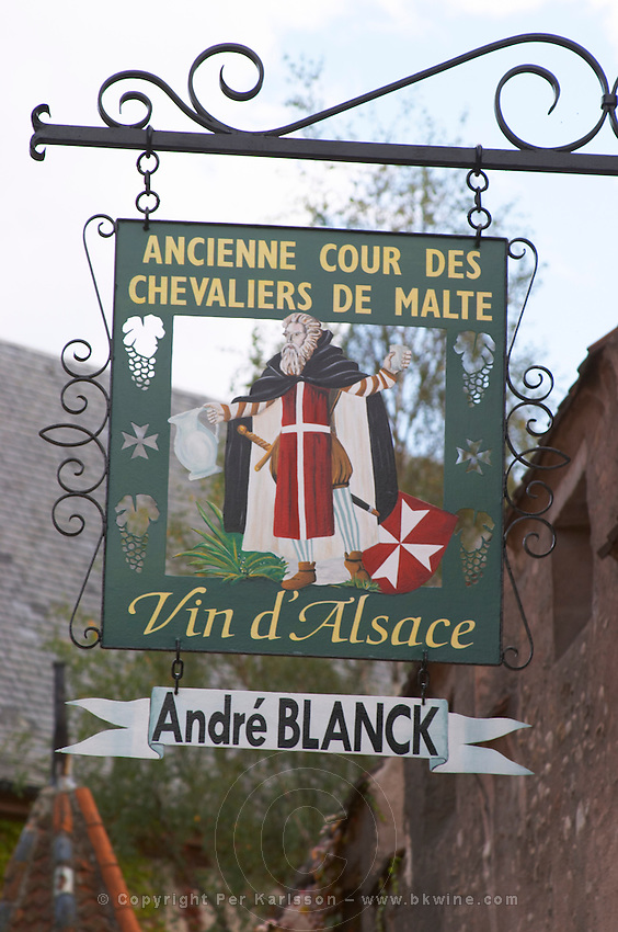 wrought iron sign andre blanck kientzheim alsace france