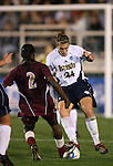 1 December 2006: Notre Dame's Jill Krivacek (24) and Florida State's India Trotter (2) challenge for the ball. The University of Notre Dame Fighting Irish defeated Florida State Seminoles 2-1 at SAS Stadium in Cary, North Carolina in an NCAA Division I Women's College Cup semifinal game.