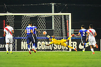 Jozy Altidore of USA scores on penalty kick . USA defeated Peru 2-1 during a Friendly Match at the RFK Stadium in Washington, D.C. on Friday, September 4, 2015.  Alan P. Santos/DC Sports Box