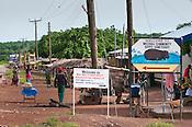 Road sign for Wechiau Hippo Sanctuary, Wechiau, Ghana