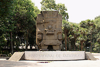 Aztec sculpture at the entrance to the National Museum of Anthropolgy in Chapultepec Park, Mexico City
