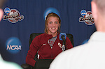 08 December 2007: Kirsten van de Ven (NED). The Florida State University Seminoles held a press conference at the Aggie Soccer Stadium in College Station, Texas one day before playing in the NCAA Division I Womens College Cup championship game.