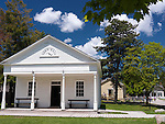 Town hall at Black Creek Pioneer Village heritage museum in Toronto, Ontario, Canada.