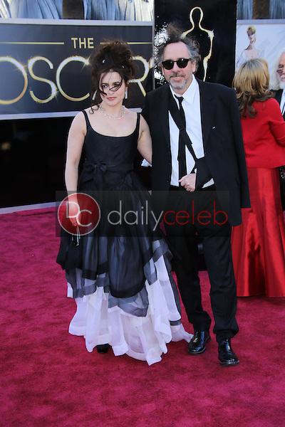 Helena Bonham Carter, Tim Burton<br /> at the 85th Annual Academy Awards Arrivals, Dolby Theater, Hollywood, CA 02-24-13<br /> David Edwards/DailyCeleb.com 818-249-4998