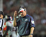 Ole Miss Coach Hugh Freeze vs. Alabama at Bryant-Denny Stadium in Tuscaloosa, Ala. on Saturday, September 29, 2012. Alabama won 33-14. Ole Miss falls to 3-2.