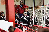 The Dutchwomen wait to take the ice for the second period. - The Boston University Terriers defeated the visiting Union College Dutchwomen 6-2 on Saturday, December 13, 2012, at Walter Brown Arena in Boston, Massachusetts.