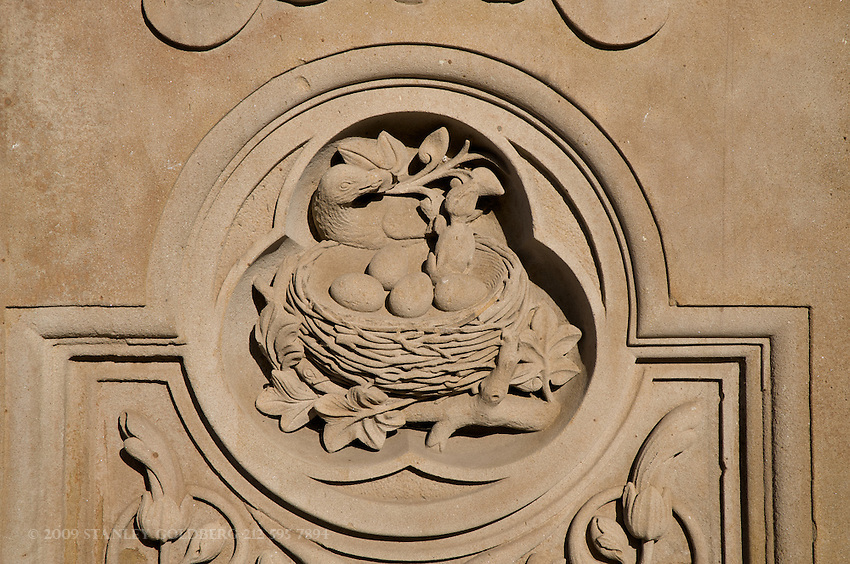 Stone-work detail,  wall surrounding Bethesda Fountain Area, Central Park, New York