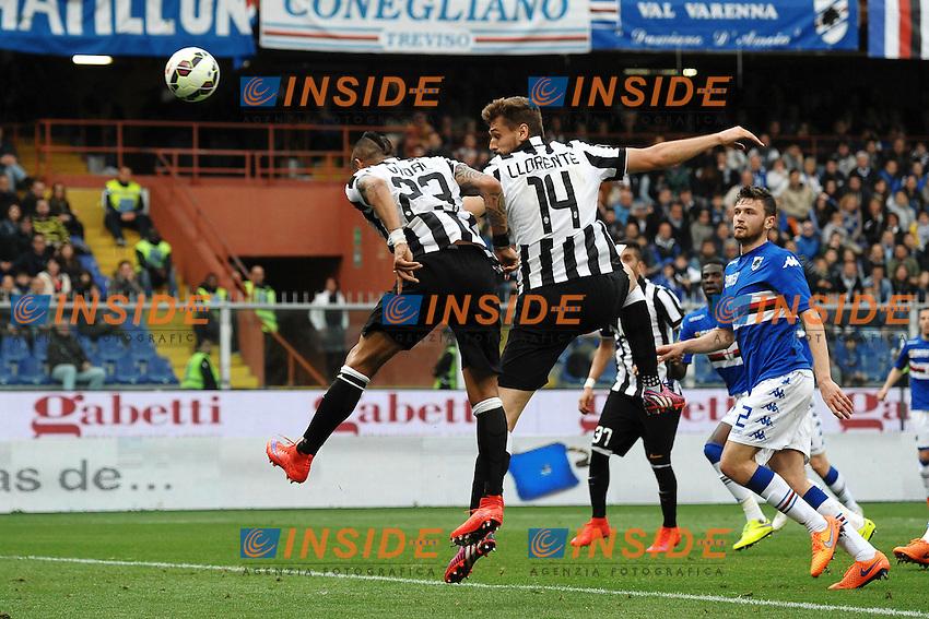 Gol Arturo Vidal Juventus 0-1 Goal celebration <br /> Genova 02-05-2015 Stadio Ferraris, Football Calcio Serie A 2014/2015 Sampdoria - Juventus Foto Andrea Staccioli / Insidefoto