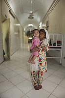 Afghanistan girls in a hospital
