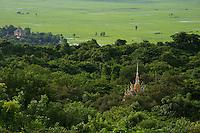 View from Phnom Sampeou near the killing caves, rural Battambang area,Cambodia
