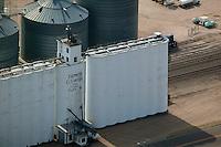 aerial photograph grain elevators Farmers Elevator Company Chappell Nebraska