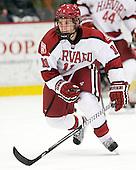 Kyle Criscuolo (Harvard - 11) - The Harvard University Crimson defeated the visiting Bentley University Falcons 5-0 on Saturday, October 27, 2012, at Bright Hockey Center in Boston, Massachusetts.