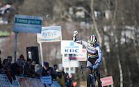 World Champion Thalita de Jong (NED/Rabo-Liv) winning on top of the steep Raidillon<br /> <br /> 2016 CX Superprestige Spa-Francorchamps (BEL)