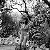 Artist and landscape architect Sue Dadd photographed in her own yard in Altadena California.