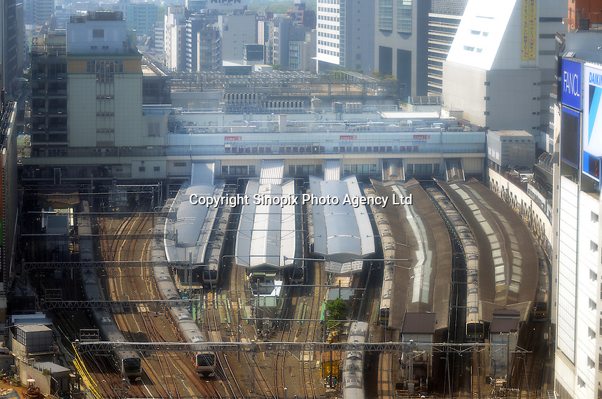 With up to 4 million passengers passing through it every day, Shinjuku station, Tokyo, Japan, is the busiest train station in the world. The station was used by an average of 3.64 million people per day.  That&rsquo;s 1.3 billion a year.  Or a fifth of humanity. Shinjuku has 36 platforms, and connects 12 different subway and railway lines.  Morning rush hour is pandemonium with all trains 200% full. <br /> <br /> Photo by Richard jones / sinopix
