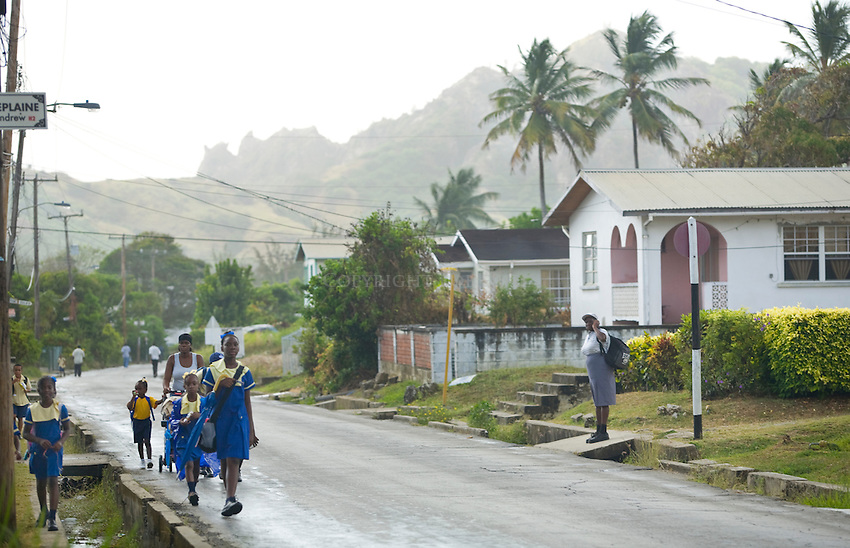 Schoolchildren.St. Andrew Parish.Barbados.