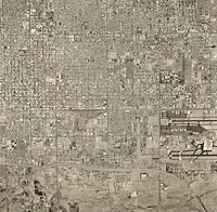 historical aerial photograph of Phoenix, Arizona, 1967