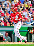 26 September 2010: Washington Nationals infielder Ian Desmond in action against the Atlanta Braves at Nationals Park in Washington, DC. The Nationals defeated the pennant-seeking Braves 4-2 to take the rubber match of their 3-game series. Mandatory Credit: Ed Wolfstein Photo