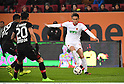 (R-L) Takashi Usami (Augsburg), Charles Aranguiz, Benjamin Henrichs (Leverkusen),<br /> FEBRUARY 17, 2017 - Football / Soccer :<br /> German Bundesliga match between FC Augsburg 1-3 Bayer 04 Leverkusen at WWK Arena in Augsburg, Germany. (Photo by Takamoto Tokuhara/AFLO)