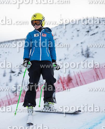 11.01.2014, Kalberloch, Zauchensee, AUT, FIS Ski Weltcup, Abfahrt, Damen, Streckenbesichtigung, im Bild Anna Fenninger (AUT, 2. Platz) // 2nd place Anna Fenninger of Austria during course inspection of ladies downhill of the Altenmarkt Zauchnesee FIS Ski Alpine World Cup at the Kaelberloch course in Zauchensee, Austria on 2014/01/11. EXPA Pictures © 2014, PhotoCredit: EXPA/ Johann Groder