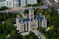 aerial photograph Salt Lake City and County Building, Washington Square, Salt Lake City, Utah