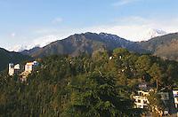 Overview of McLeod Ganj, the Tibetan community where the Dalai Lama lives.