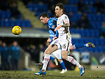 St Johnstone v Inverness Caley Thistle&hellip;09.03.16  SPFL McDiarmid Park, Perth<br />Danny Swanson battkes with Greg Tansey<br />Picture by Graeme Hart.<br />Copyright Perthshire Picture Agency<br />Tel: 01738 623350  Mobile: 07990 594431
